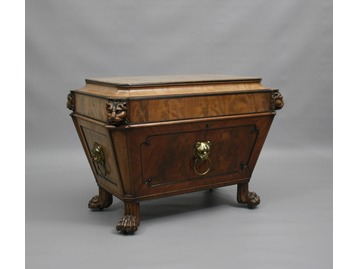 A Regency mahogany wine cooler.