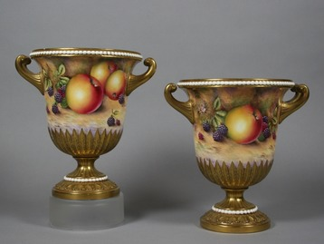 David Bowkett Royal Worcester urns.