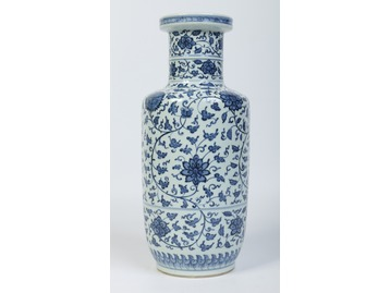 A 19th century Chinese rouleau vase. Pai