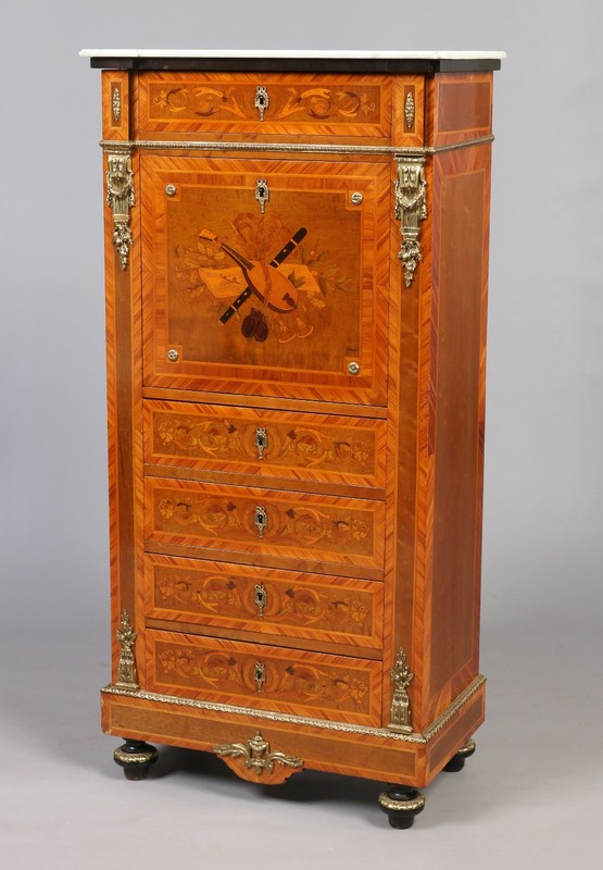 A 19th century French style mahogany and