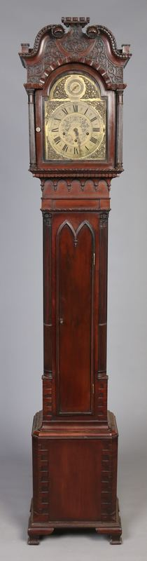 A mahogany longcase clock of small propo