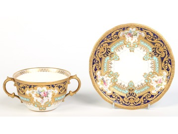 A fine Royal Crown Derby chocolate cup a