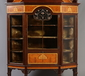 A large Art Nouveau mahogany display cab