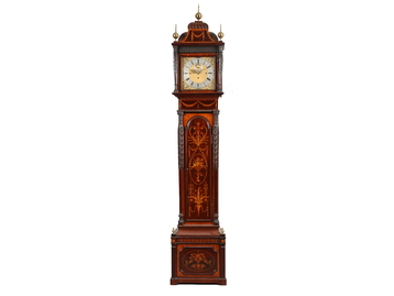 A fine Victorian mahogany marquetry long