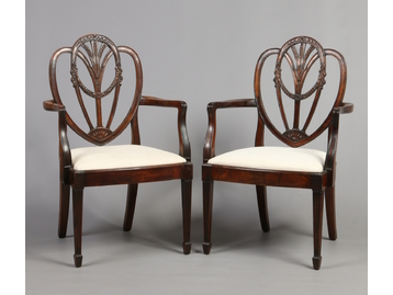 A set of ten Hepplewhite style dining ch