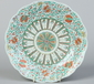 A 19th century Chinese Doucai lobed dish