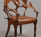 A 19th century antler back elbow chair o