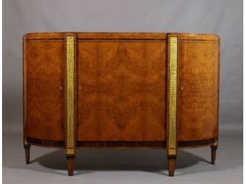 An Art Deco maple credenza
