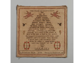 A William IV unframed woolwork sampler.