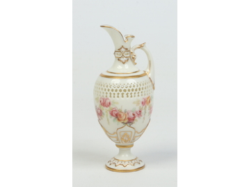A small Royal Worcester reticulated ewer