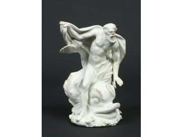 A Bow blanc de chine figure of Neptune.