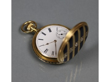 A Victorian 18 carat gold hunter watch.