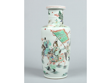 A 19th century Chinese rouleau vase. Dec