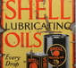 A vintage Shell enamel advertising sign.