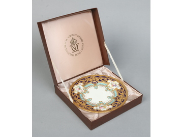 A boxed fine Royal Crown Derby dessert p