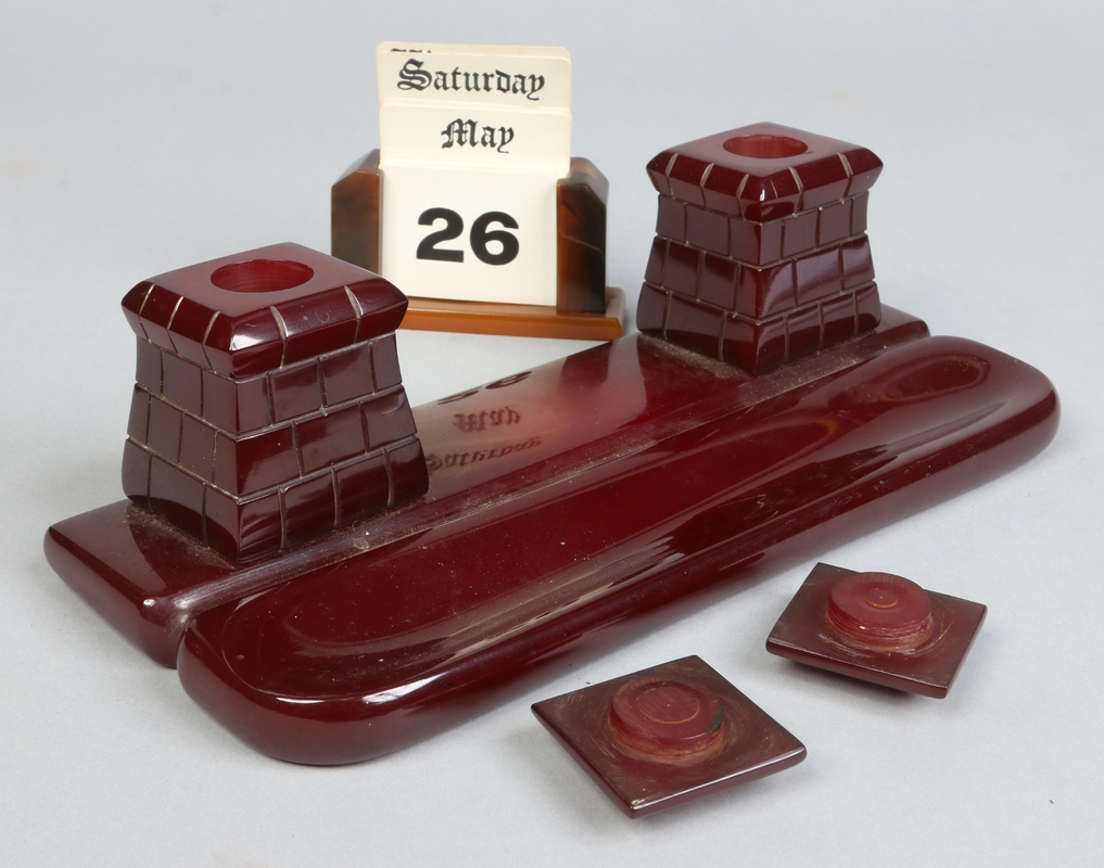 A cherry amber coloured Bakelite / Catal