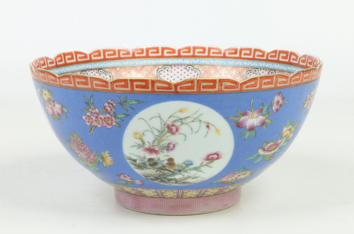 A Chinese Republic period bowl with scal
