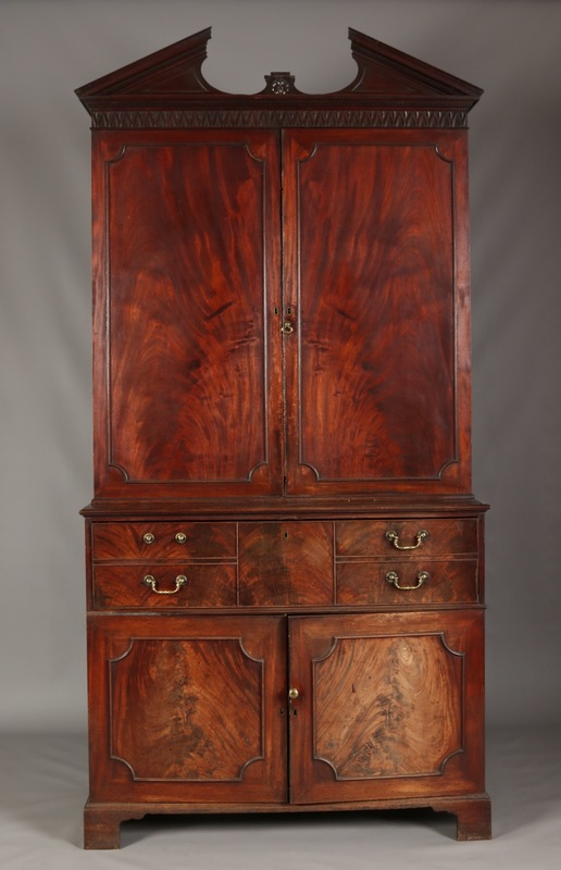 A Chippendale secretaire bookcase.