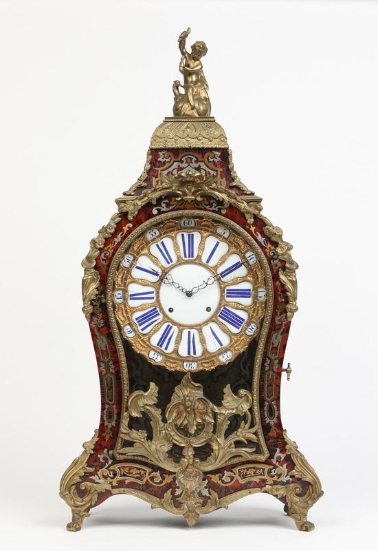 Boulle work bracket clock.