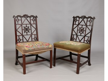 Chinese Chippendale style chairs.