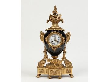 French gilt bronze clock.
