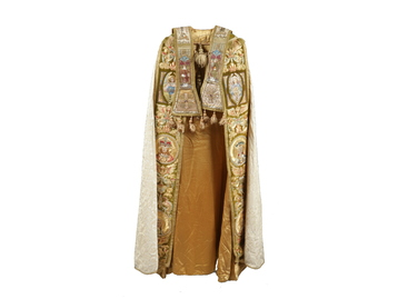 A silk and velvet Priests cope vestment
